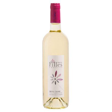domaine des trois filles igp mont Caume bouteille de vin blanc